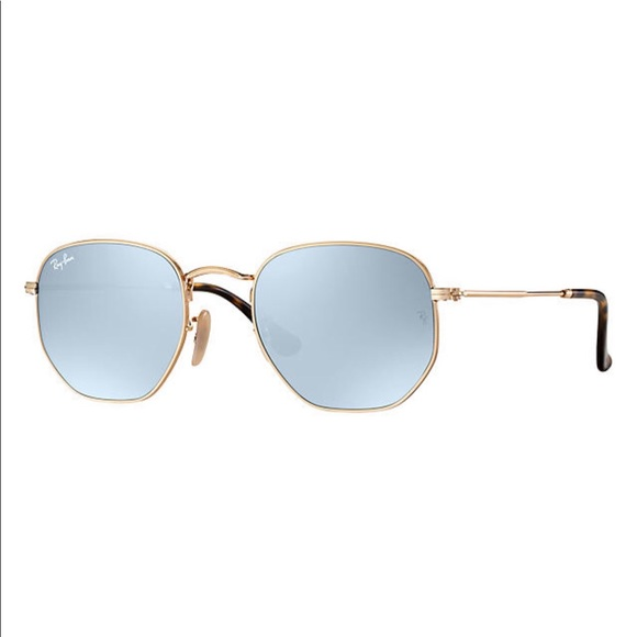 0027229cd6c Ray-Ban Hexagonal Flat Lenses Gold W  Silver Flash.  M 5c7338bd409c15535b9ecd76. Other Accessories ...